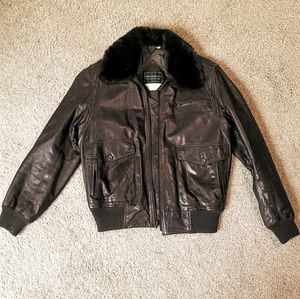 Saks Fifth Avenue Leather Flight Jacket
